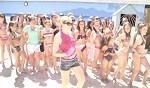Chorégraphie du tube de l'été au bord de la piscine avec les filles